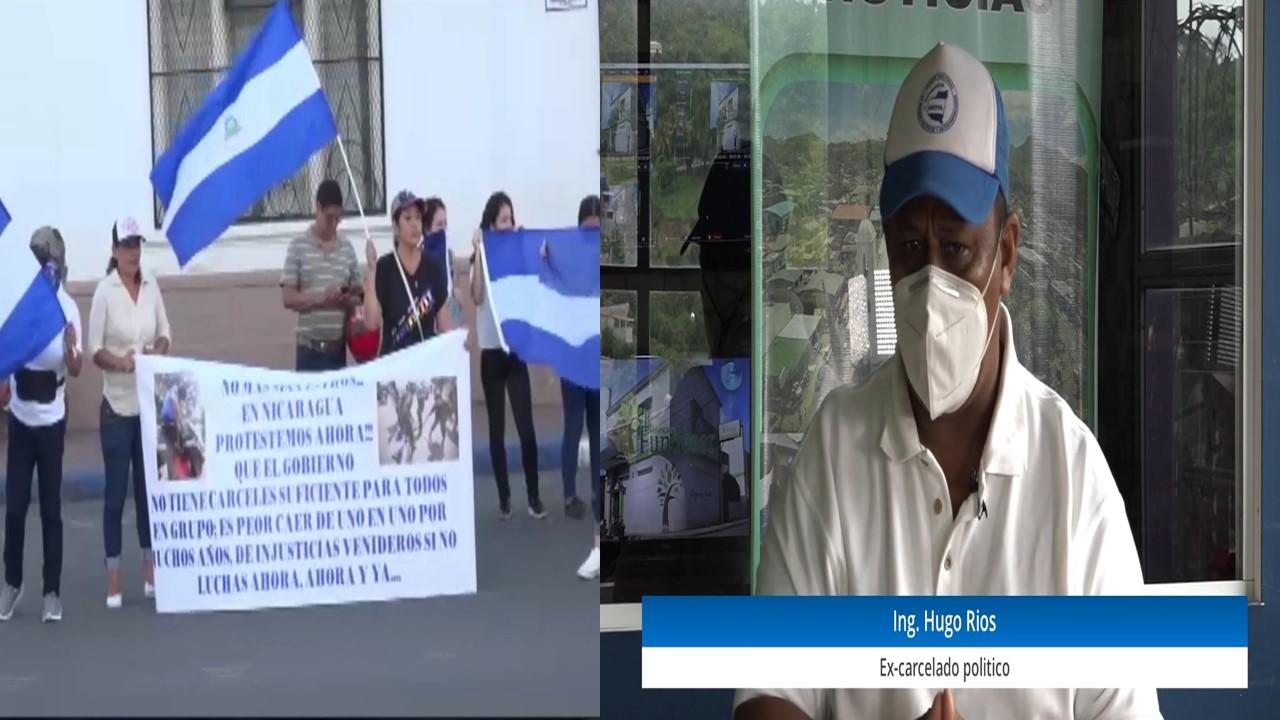 Activistas y expresos matagalpinos se mantienen firme en la lucha a pesar del asedio político